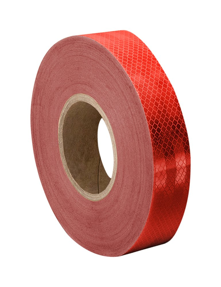3M 3432 Red Micro Prismatic Sheeting Reflective Tape – 3 in. X 15 ft. Non Metalized Adhesive Tape Roll. Safety Tape
