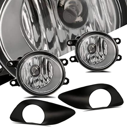 Amazon.com: SCITOO Driver and Passenger Side Projector Fog Light Assembly with Wiring Kit Fit for 2006 2007 2008 2009 2010 Toyota Yaris 4 DR: Automotive