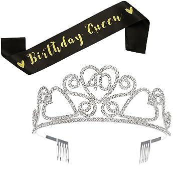 Amazon.com: SWEETV Tiara de diamantes de imitación ...