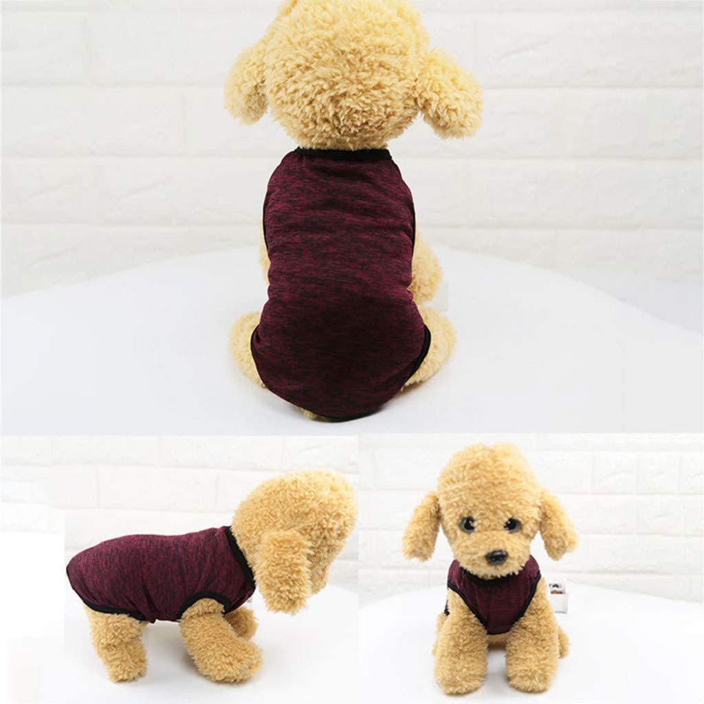 Summer Breathable Sleeveless T-Shirt Small Dog Cat Clothes Daopwlkom Classic Pet Dog Shirts Vest Clothes Sweatshirt