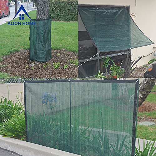 Alion Home 75% Sunblock Sun Shade Plant Cover UV Resistant Durable Shade Net Panel for Garden, Greenhouse, Flower, Barn, Kennel, Fence - Green (6' x 12') by Alion Home