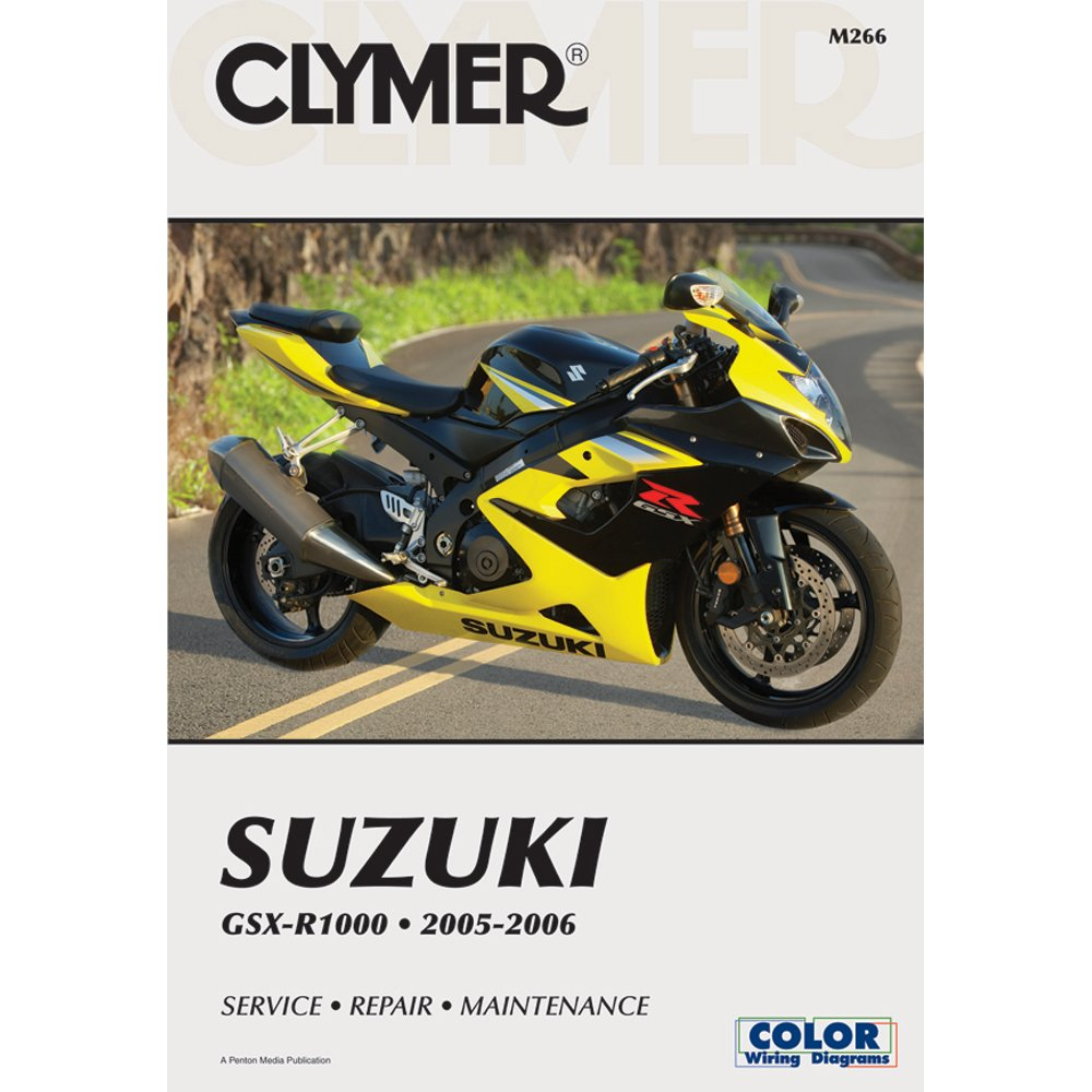 Clymer Repair Manual for Suzuki GSX-R1000 GSXR-1000 05-06
