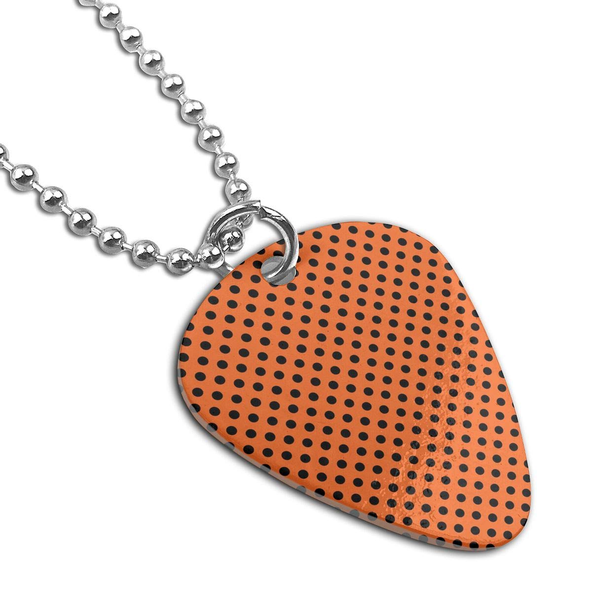 Sheery Black Spots Dog Tag Pendant With Guitar Bassiform