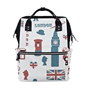 Backpack School Bag London Union Jack Canvas Travel Doctor Style Daypack