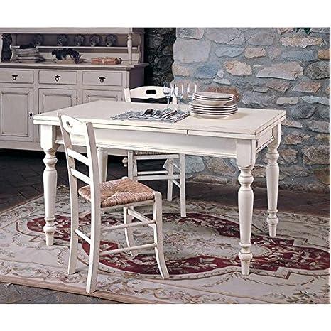 Tavoli Sedie Arte Povera.Tavolo In Legno Massello Di Pioppo Allungabile 160x85 Arte