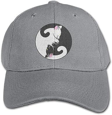 FAVIBES Yin Yang Gatos Gorra de béisbol de Color Puro Algodón ...
