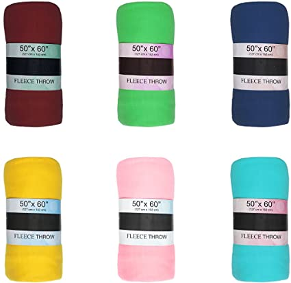 169553b1bb Amazon.com  Ddi Economy Fleece Throw Blankets - 50