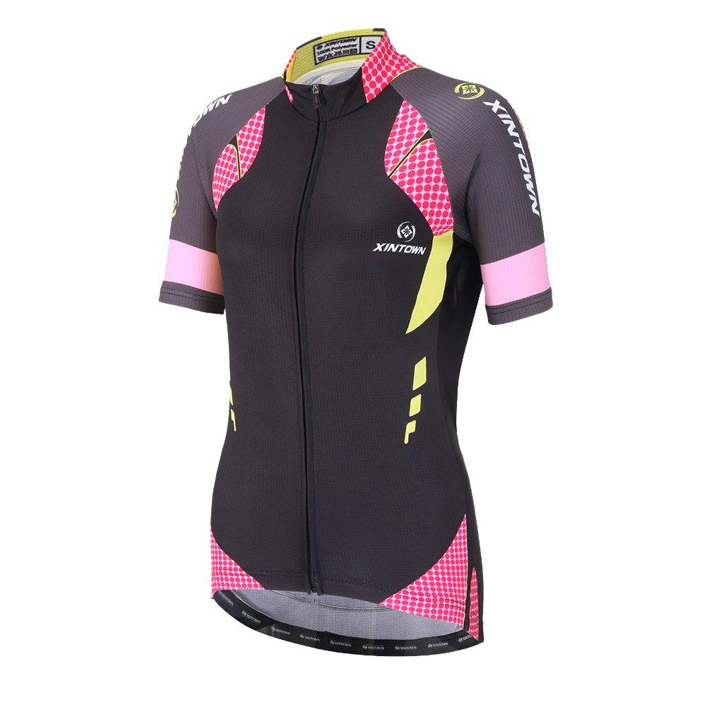 DuShow Women Cycling Jersey Short Sleeve Cycling Shirt Bicycle Bike Top Black(M) by DuShow