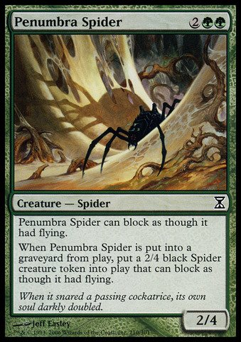 (Magic: the Gathering - Penumbra Spider - Time Spiral)