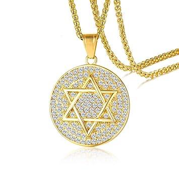 TIZIKJ Hombre judío religioso símbolo joyería de Acero ...