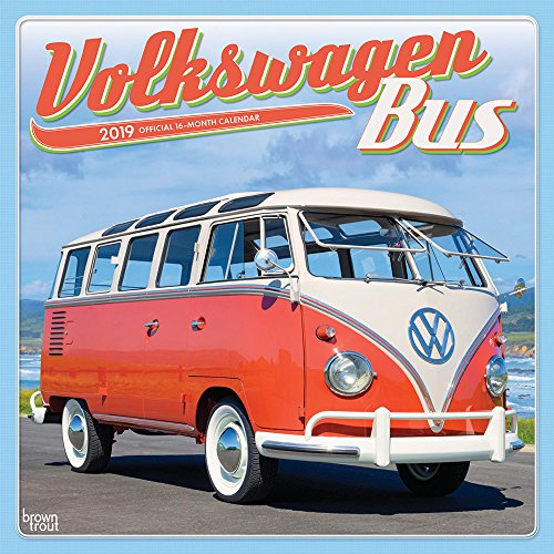 Volkswagen Bus 2019 12 x 12 Inch Monthly Square Wall Calendar, German Motor Car