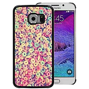 Red-Dwarf Colour Printing Breakfast Cereal Loops Colorful Pattern - cáscara Funda Case Caso de plástico para Samsung Galaxy S6 EDGE SM-G925