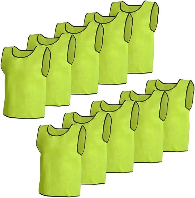10er Markierungshemd Trainingsleibchen Fußball Leibchen Gelb