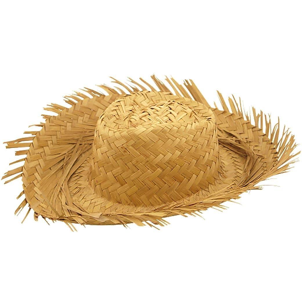 Rimi Hanger Mens Male Straw Beachcomber Hat Gents Hawaiian Fancy Curl Up Edges Hat Accessory