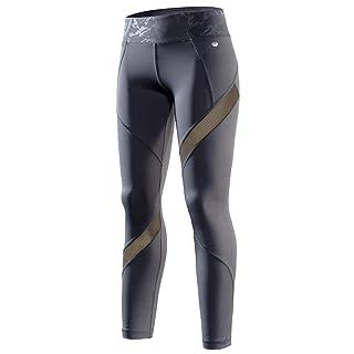 RION Active Women's Yoga Compression Leggings Workout Pants Grey