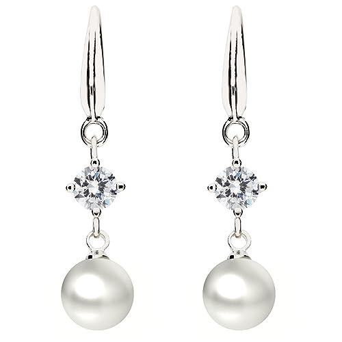 080b0042236a Mya tipo premium - Pendientes perla pendientes colgante plata de ley ...