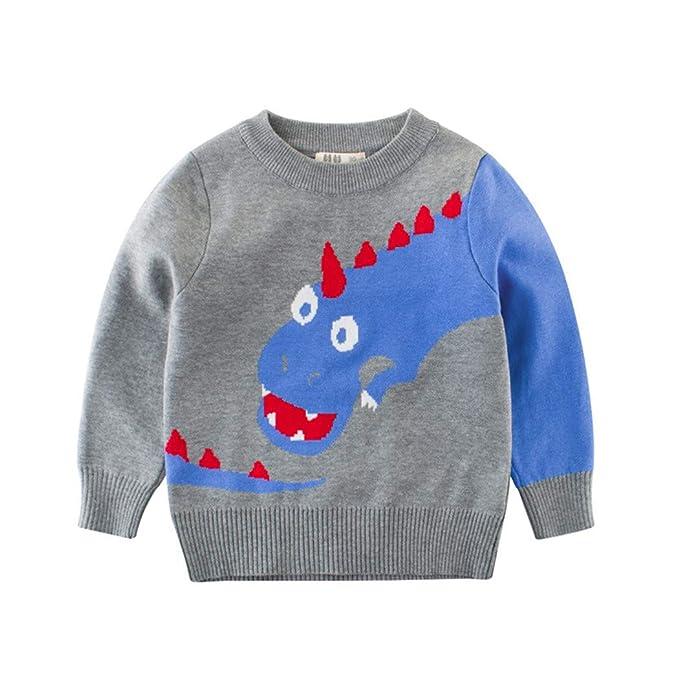 Amazoncom Youland Sweaters Kids Boys Casual Cartoon Dinosaur