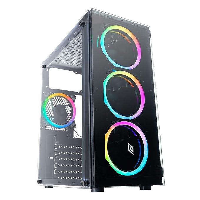 3 opinioni per Noua Nexus P3 Black Case ATX per PC Gaming 4 Ventole Dual Halo RGB Rainbow Front