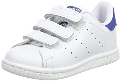 adidas Stan Smith, Chaussures Bébé Marche Mixte, Blanc FTWR White/EQT Blue S16