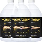 Epoxy Resin for River Table - 3 Gallon kit - UV Resistant Crystal Clear Epoxy Resin Kit - 2:1 Ratio for Deep Pour, Deep Casti