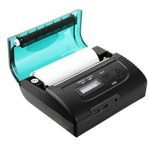 GXWLWXUP 80mm Impresora térmica portátil inalámbrica, Bluetooth ...