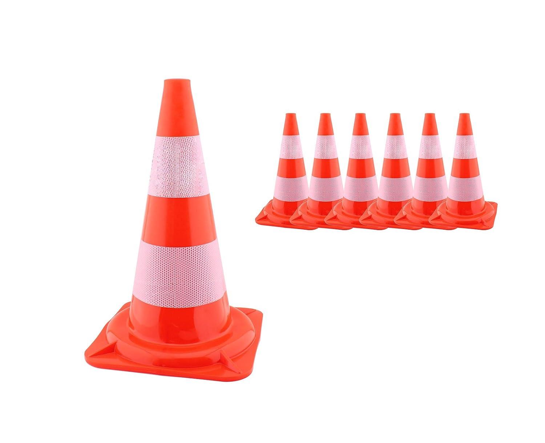 6 Stk. Verkehrs-Pylone Leitkegel Warnkegel Hü tchen Kegel Lü becker Hut Parcours myowntrade