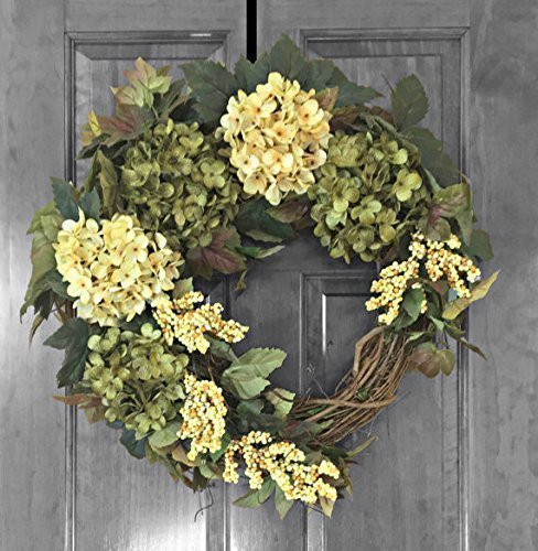 Amazon Com Front Door Wreath Door Decor Hydrangea Wreaths For