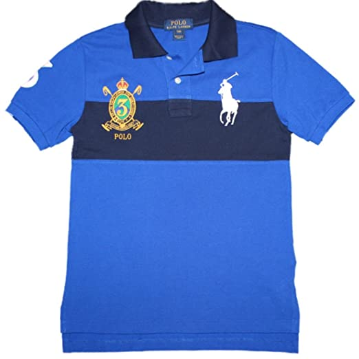 2d419be5 Amazon.com: Ralph Lauren Big Pony Cotton Mesh Polo Shirt Boys 2T-20 ...