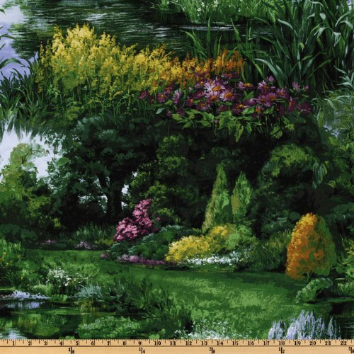 - Michael Miller Park Landscape Green Fabric by The Yard