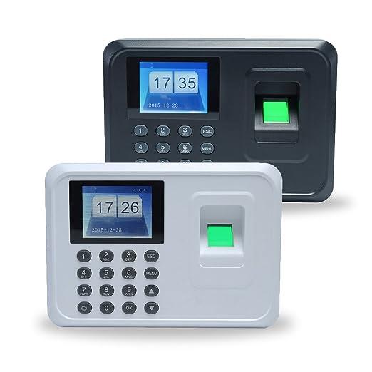 Aibecy Huellas Biométrico de Asistencia Máquina /Registrador de Cheques del Empleado / 2.4 Pulgadas TFT DC 5V,Blanco: Amazon.es: Bricolaje y herramientas