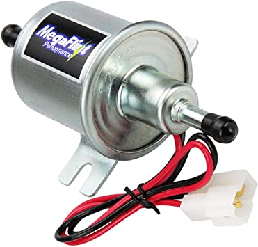 MegaFlint Universal 12V Low Pressure Gas Diesel Inline Electric Fuel Pump HEP-02A 2.5-4 PSI