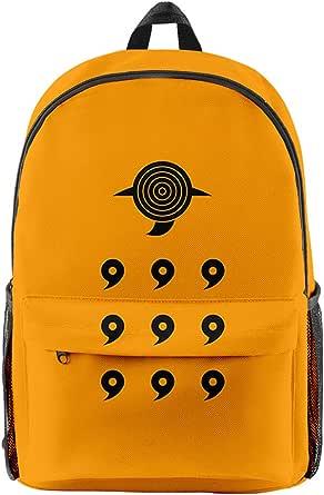KIACIYA Mochila Anime Naruto, Grande Capacidad Uchiha Sasuke Itachi Akatsuki Anime Cosplay Naruto Mochila Escolar Estudiante Bolso de Escuela Laptop Backpack Mochila para Portátil Viajes