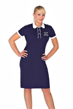 M.Conte Vestido Polo-Dress Manga Cortos para Mujer Martina Azul L ...