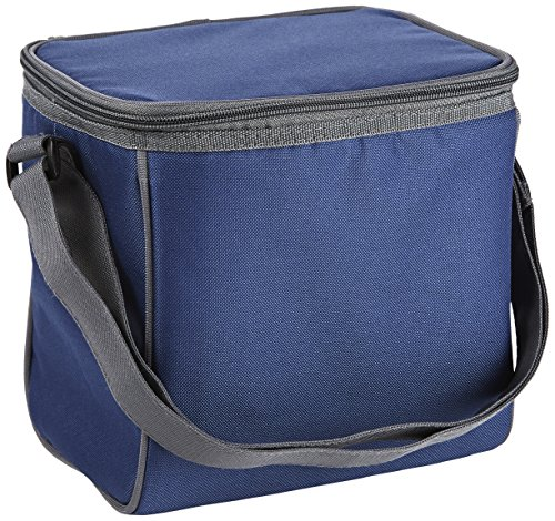 Fit & Fresh Insulated Cooler Bag with Adjustable Shoulder Strap, 6 Bottle Capacity, Versatile Cooler Bag for Men, Women, Kids, Navy