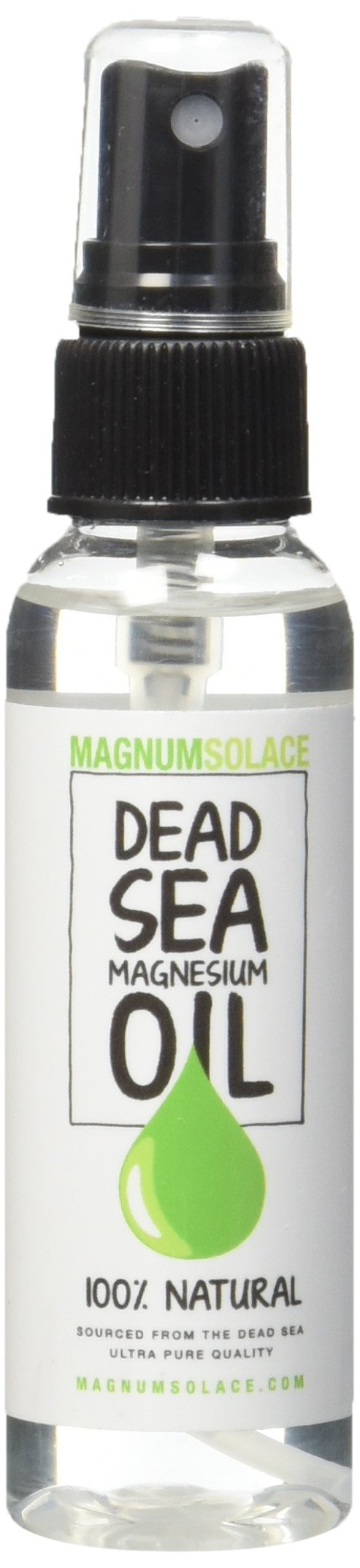 MAGNESIUM OIL 100% PURE NATURAL Dead Sea Minerals - Exceptional #1 Source - Made in the USA - BIG (2 oz)