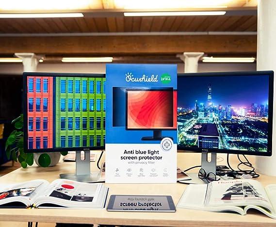Anerkanntes Computer Monitor Medizinprodukt-Blendschutzfilter Ocushield Anti-Blaulicht PC Monitor Bildschirmschutz mit Privacy Filter Blaulicht-Filter PC Bildschirm mit Blue-light Sperrung