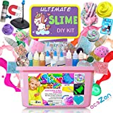 ecoZen Lifestyle Ultimate Slime Kit - Perfect Unicorn Slime Kit for Girls - Best Value DIY Slime Supplies Kits for Making Tons of Various Fail-Proof Slimes - Perfect Birthday Toys Gifts for Girls