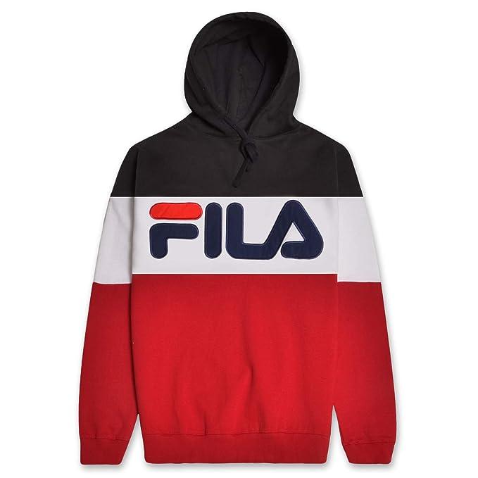 Fila Mens Big and Tall Color Block Fleece Pullover Hoodie Sweatshirt