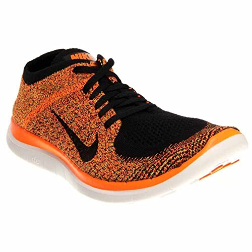 Nike Men's Free 4.0 Flyknit Running Shoe (Black, Total Orange) Sz. 9.5