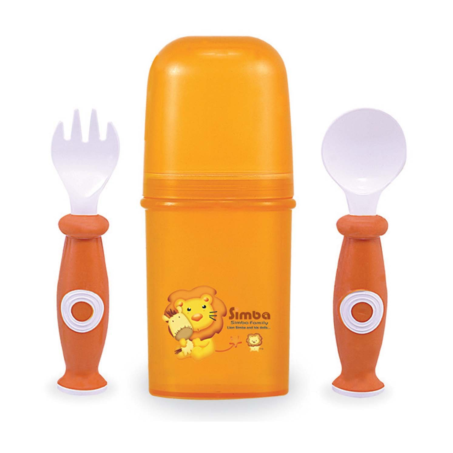 新品即決 Simba Fork and Spoon Set Set with Storage B00BV0QFFC with Case, Orange by Simba B00BV0QFFC, 大玉村:7c258588 --- a0267596.xsph.ru
