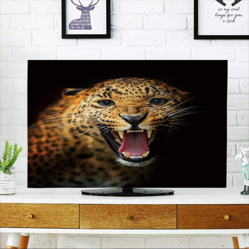 PRUNUS あなたのTVのモルディブアイランド 心の形であなたのテレビを保護 幅19 x 高さ30 インチ/テレビ32インチ W36 x H60 INCH/TV 65