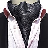 Men's Cravat Self Tie Paisley Jacquard Woven Luxury Ascot Color 15