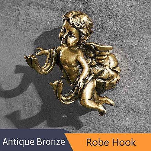 Robe Hooks Bronze Color Towel Hook Coat Clothes Hanger Door Rack Classic Angel Home Deco Wall Mount Bathroom Shelf Robe Hook