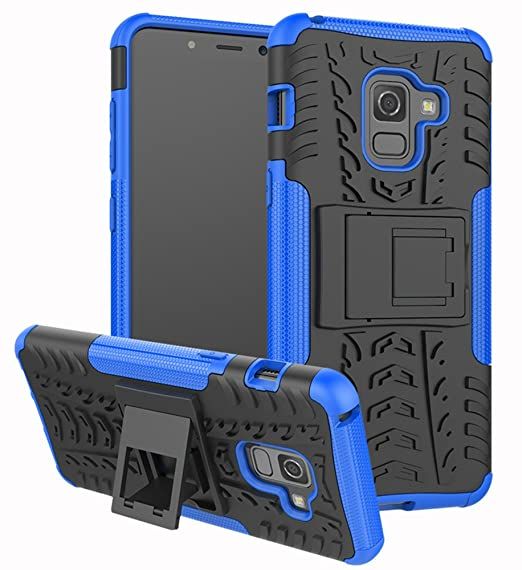 finest selection b66e4 c379e Galaxy A8 2018 Case,Yiakeng Shock Absorbing Dual Layer Protective Fit Armor  with a Kickstand Phone Cases for Samsung Galaxy A8 (2018) 5.6