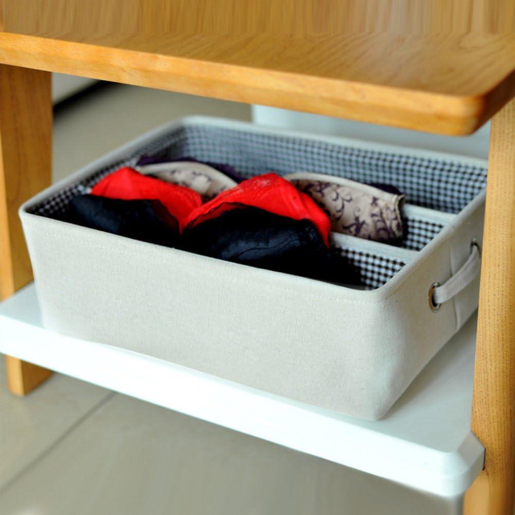 OUNONA Cajas Plegables de Cajones Organizador de Armario de Sujetador Ropa Interior Bufandas Pa/ñuelos Calcetines de 3 Rejillas