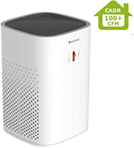 KeenPure Air Purifier with True HEPA Filter, Best Room Air Purifier for Bedroom, Home, Office, Kitchen, Compact Air Cleaner for Pets Dander, Smokers, Odors, Super Quiet and Ozone Safety