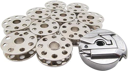 KUNPENG - 1 caja de bobina # 45751 y 10 bobinas # 45785 para máquina de coser de pluma de Singer: Amazon.es: Hogar
