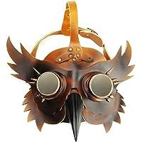 MagiDeal Máscara Pico Médico de la Peste Negra Accesorios Disfraces para Halloween Cosplay Carnaval - Cobre rojo