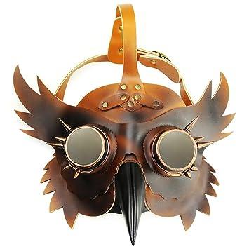 MagiDeal Máscara Pico Médico de la Peste Negra Accesorios Disfraces para Halloween Cosplay Carnaval - Cobre