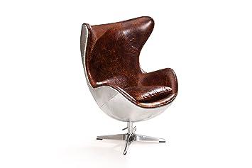 Rose And Moore Egg Chair Aus Leder Amazon De Kuche Haushalt